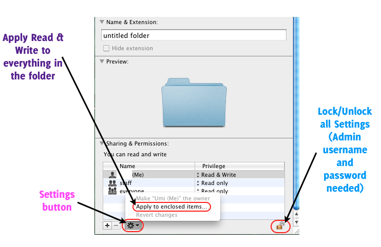 change file permissions on multiple files mac